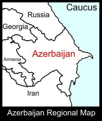 Azerbaijan Regional Map |ATC