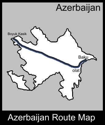 Azerbaijan Route Map   ATC