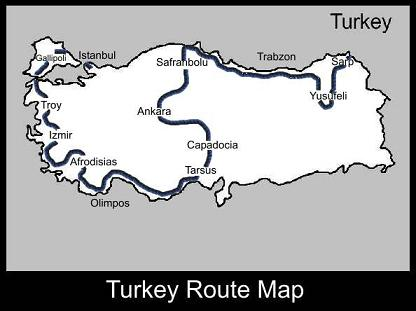 Turkey Route Map | ATC