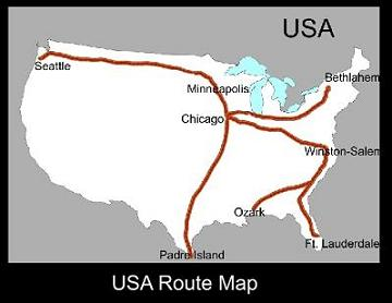 USA Route Map | ATC