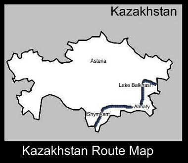 Kazakhstan Route Map | ATC