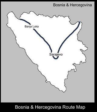 Bosnia Route Map   ATC