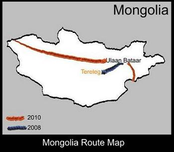Mongolia Route Map | ATC