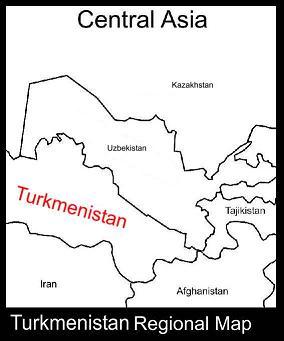 Turkmenistan Regional Map | ATC