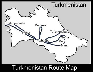 Turkmenistan Route Map | ATC