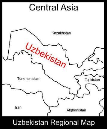 Uzbekistan Regional Map |ATC