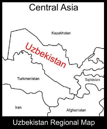 Maps and routes abandon the cube the above map shoes the location of uzbekistan relative to its neighbors sciox Image collections