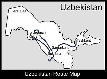 Uzbekistan Route Map | ATC