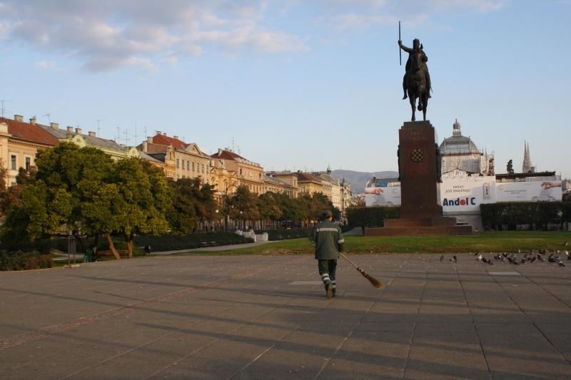 Main Square in Zagreb, Croatia