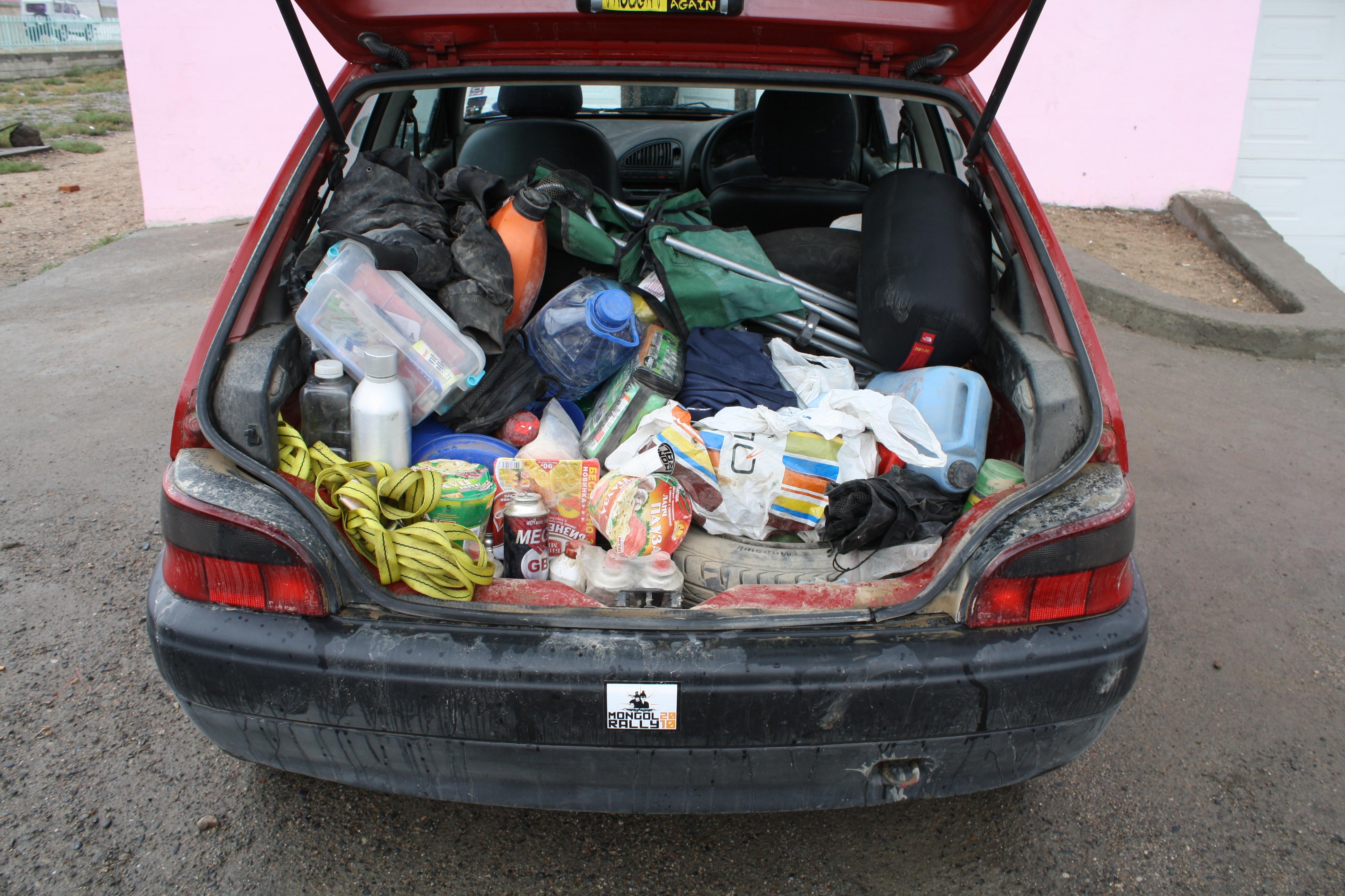 ATC Mongol Rally, Packing Fail