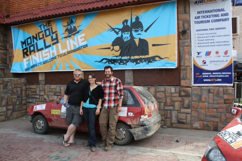 ATC Mongol Rally Team at Finish Line