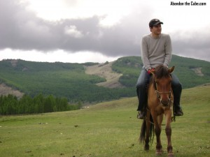 Mike on a horse