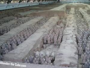 A dusty army