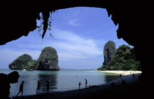 Thailand Cave, Beach, and Rock Formations