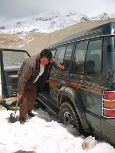 Our Driver Digging us Out
