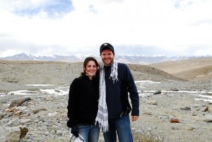 Lauren and Mike off the Karakorum Highway