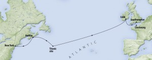 Route of the Titanic